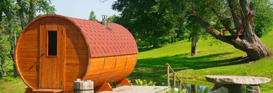 sauna extérieur dans votre jardin